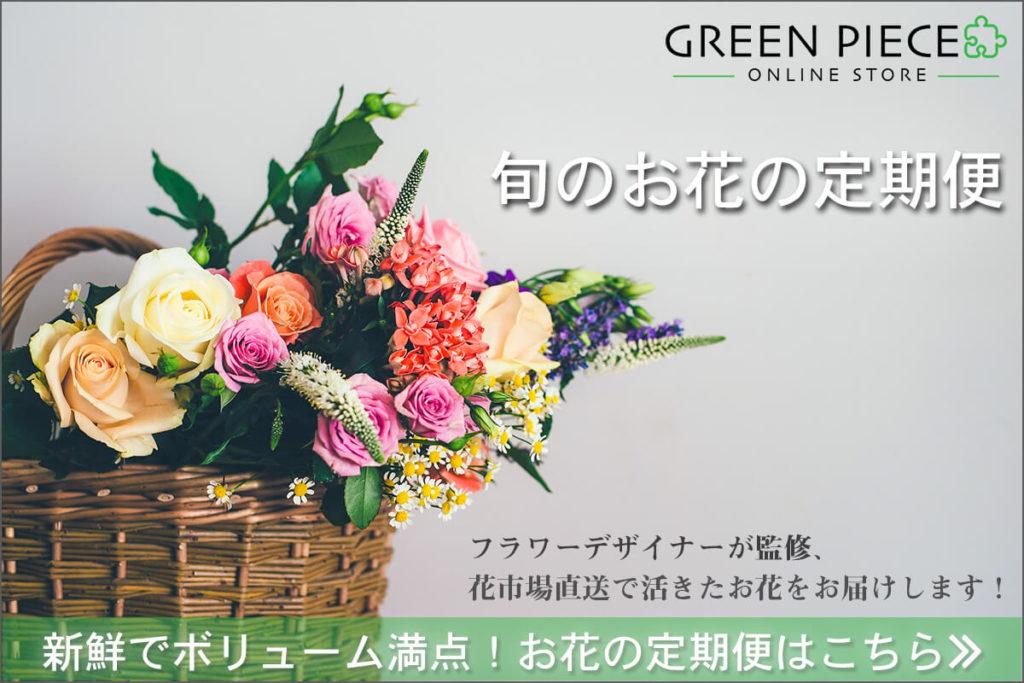 お花の定期便【グリーンピース】