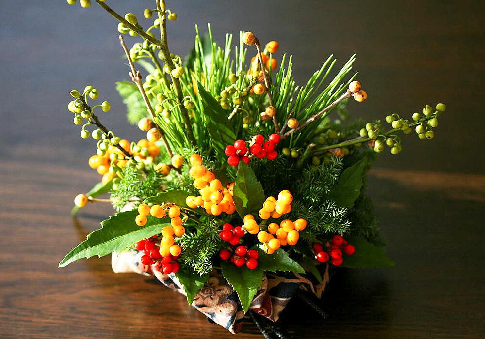 センリョウの正月飾り